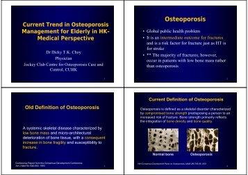 Osteoporosis - Hong Kong Physiotherapy Association