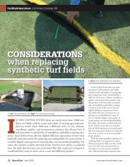 CONSIDERATIONS when replacing synthetic turf fields