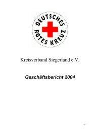Geschäftsbericht 2004 - DRK-Kreisverband Siegen-Wittgenstein