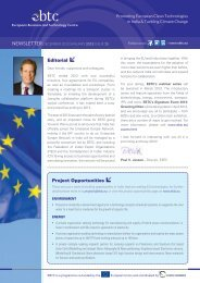 EBTC December 2012 / January 2013 Newsletter | Issue 15