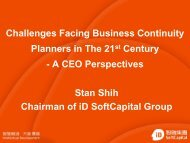 Challenges Facing Business Continuity Planners in The 21st Century