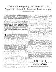 Efficiency in Computing Correlation Matrix of Wavelet Coefficients by ...