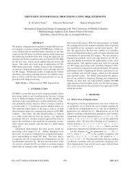 diffusion tensor image processing using biquaternions - Biomedical ...