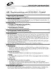 AJB - Hauptversammlung vom 23.03.2012 – Protokoll