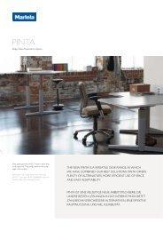 the new pinta is a versatile desk range, in which we have ... - Bogart.ru