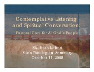 Contemplative Listening and Spiritual Conversation: