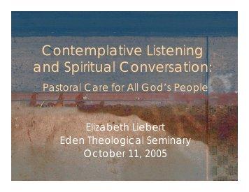 Contemplative Listening and Spiritual Conversation: