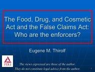Slides - Food and Drug Law Institute