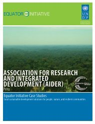 association for research and integrated ... - Equator Initiative