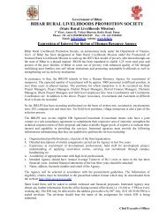 5th Quarterly Progress Report of JEEViKA - Bihar Rural Livelihoods