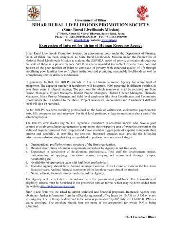 EOI - HR Agency.pdf - Bihar Rural Livelihood Promotion Society