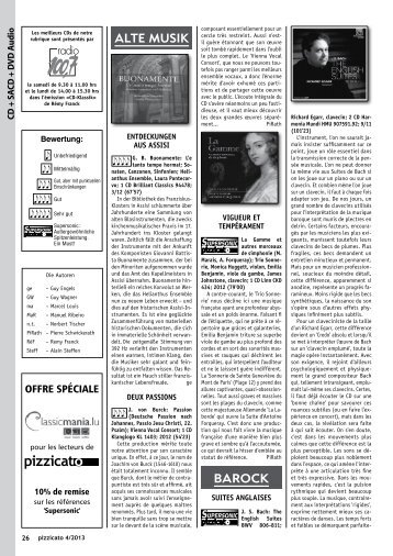 Reviews Pizzicato 232
