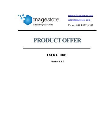 PRODUCT OFFER - Magento Extensions
