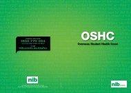 Using your OSHC - nib