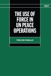 The Use of Force in UN Peace Operations - Publications - SIPRI