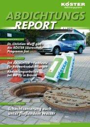 Abdichtungsreport 2-2010 - Koster
