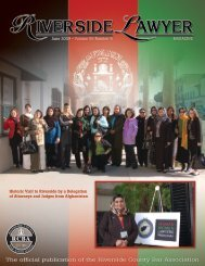 June 2009 - Riverside Lawyer Magazine - Riverside County Bar ...