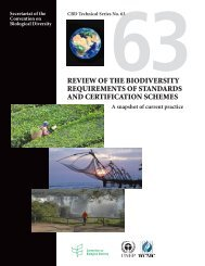 Review of the biodiveRsity RequiRements of standaRds and ...