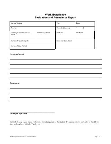 Work Experience Evaluation Form V.2 - Abbynet