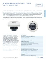 5.0 Megapixel Day/Night H.264 HD 3-9mm Outdoor Dome Camera