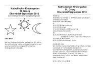 Katholischer Kindergarten St. Georg Elternbrief September 2012 ...