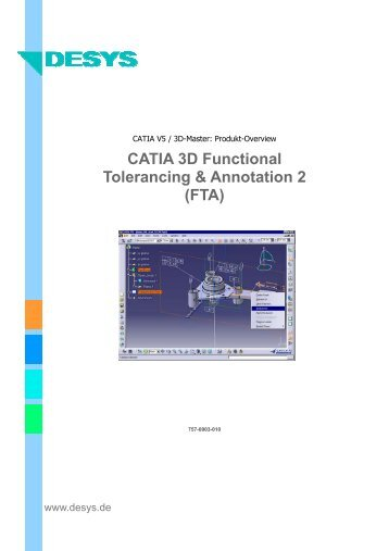 CATIA 3D Functional Tolerancing & Annotation 2 (FTA) - DESYS