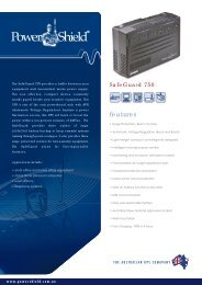 PowerShield SafeGuard UPS Brochure