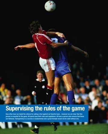 Supervising the rules of the game - Bci