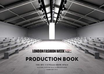 PRODUCTION BOOK - London Fashion Week