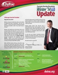 A Message from the President - DuTrac Community Credit Union