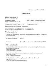 CURRICULUM DATOS PERSONALES TRAYECTORIA ...