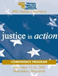 NLADA's 2002 Annual Conference Conference Program