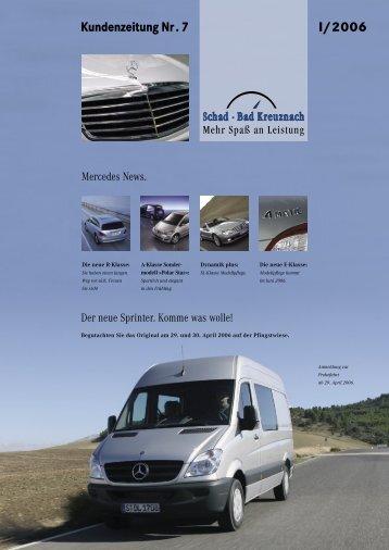 I/2006 Kundenzeitung Nr. 7 - Wilhelm Schad Nachf. GmbH & Co. KG