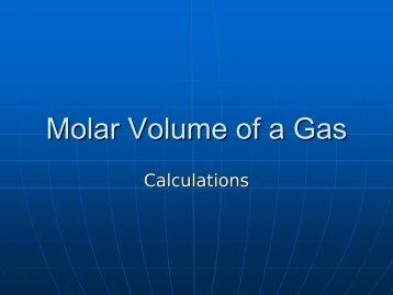 Molar Volume of a Gas