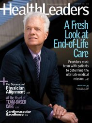 Physician Alignment in the New Shared Risk ... - MedSynergies