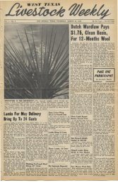 March 31, 1949 - Livestock Weekly!