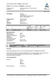 GUTACHTEN zur ABE Nr. 46560 nach §22 StVZO Anlage 17 zum ...