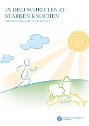 IOF-Report 2011 - Aktion gesunde Knochen