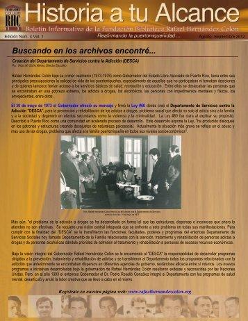 Boletín Informativo Edición Núm. 4 Vol. 1 - Agosto a Septiembre 2012