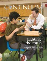 Lighting the Torch - Cistercian Preparatory School