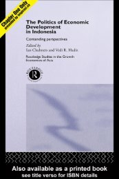 The Politics of Economic Development in Indonesia ... - Inspirasi.co