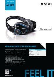 Auriculares Denon ADH400 - Novomusica