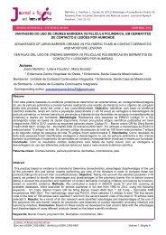 vantagens do uso de cremes barreira vs película polimérica, em ...