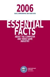 2006 Essential Facts about the Computer and Video Game Industry