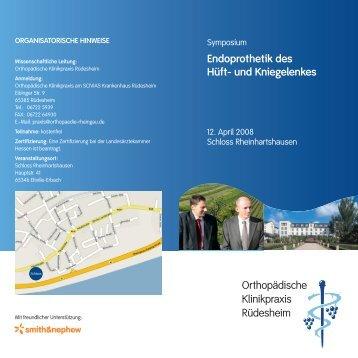Endoprothetik des Hüft- und Kniegelenkes Orthopädische ...