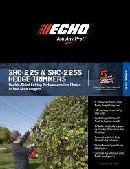 SHC-225 & SHC-225S Hedge TrimmerS