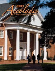 Chronicle of Scholarly Activity - Campbell University