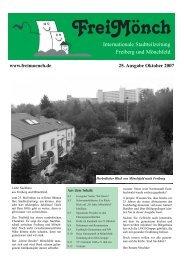 25. Ausgabe Oktober 2007 - Bürgerverein Freiberg und Mönchfeld eV