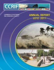 Annual Report for 2010 - 2011 - The Caribbean Catastrophe Risk ...
