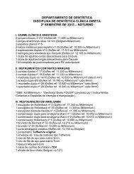 Lista Instrumental Dental Clinica Direta – 2º semestre 2013